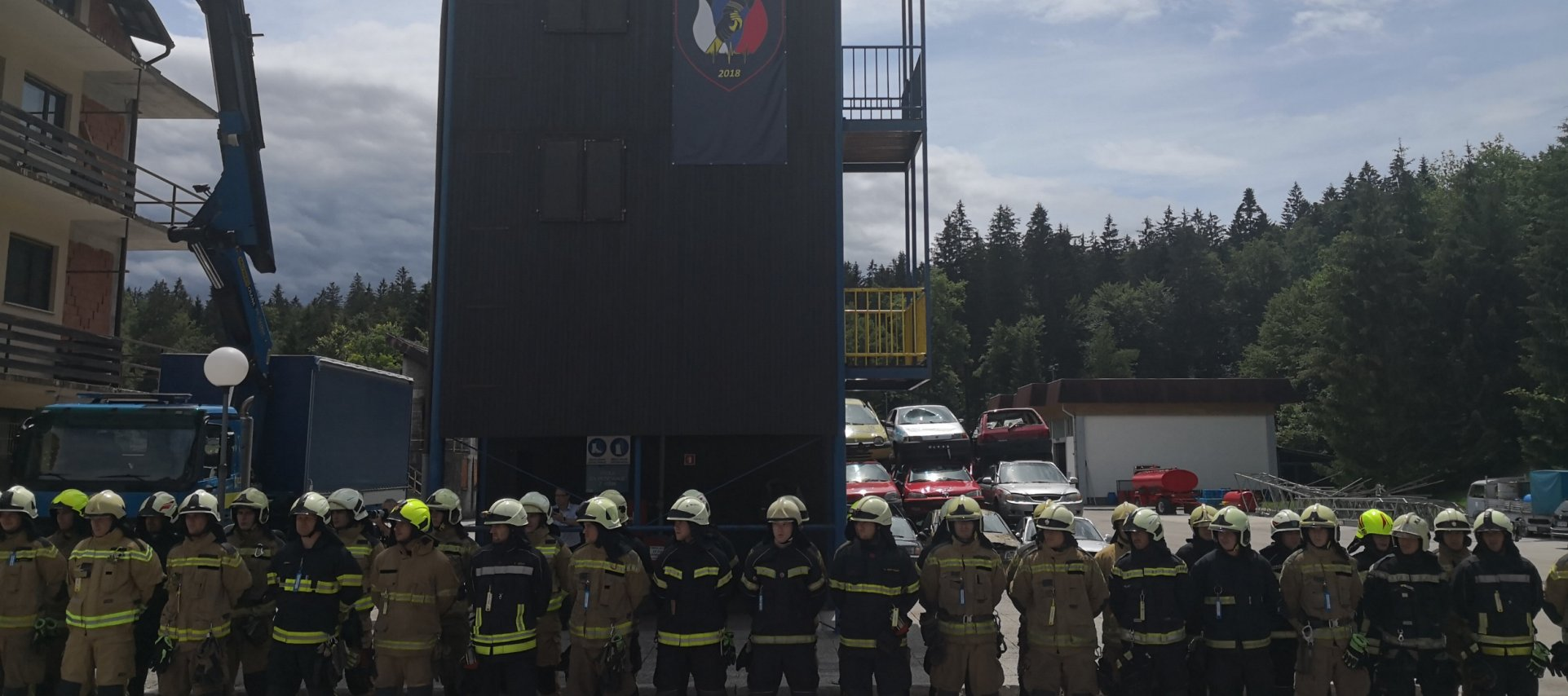 Portorož Airport firefighter Emanuel successfully completed firefighting school